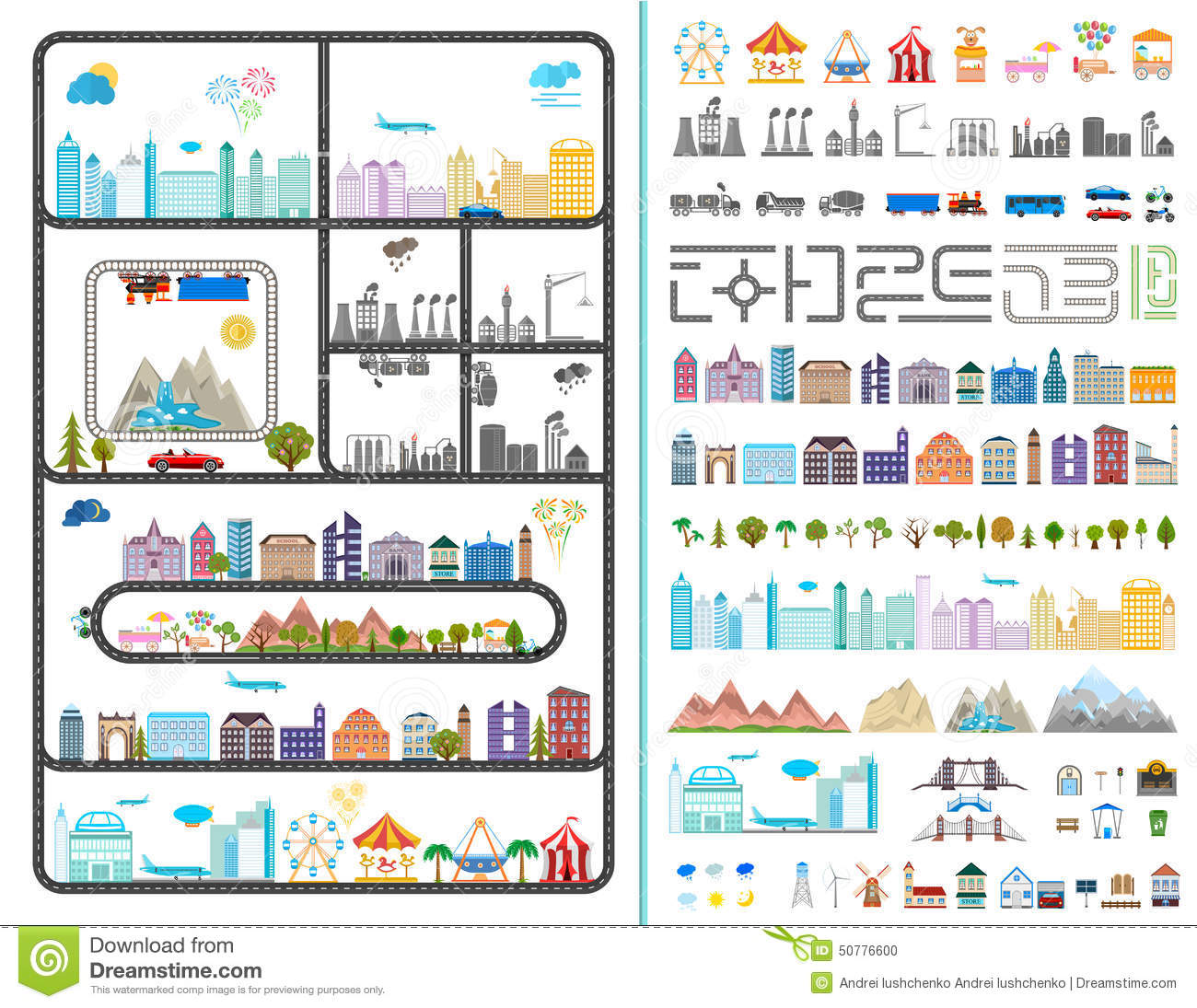 Building Illustration - Stock 50776600 Modern Elements City Of The Graphic