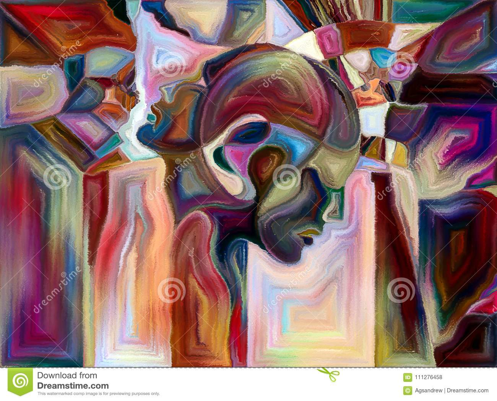Elements Of Symbolic Meaning Stock Illustration