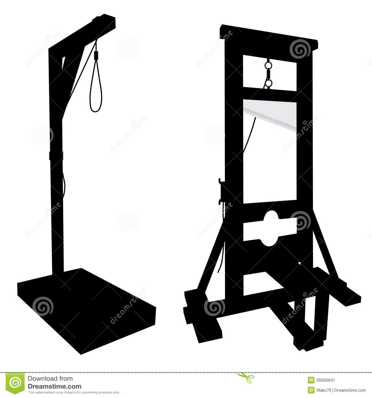 elements to perform executions guillotine gallow stock. Black Bedroom Furniture Sets. Home Design Ideas