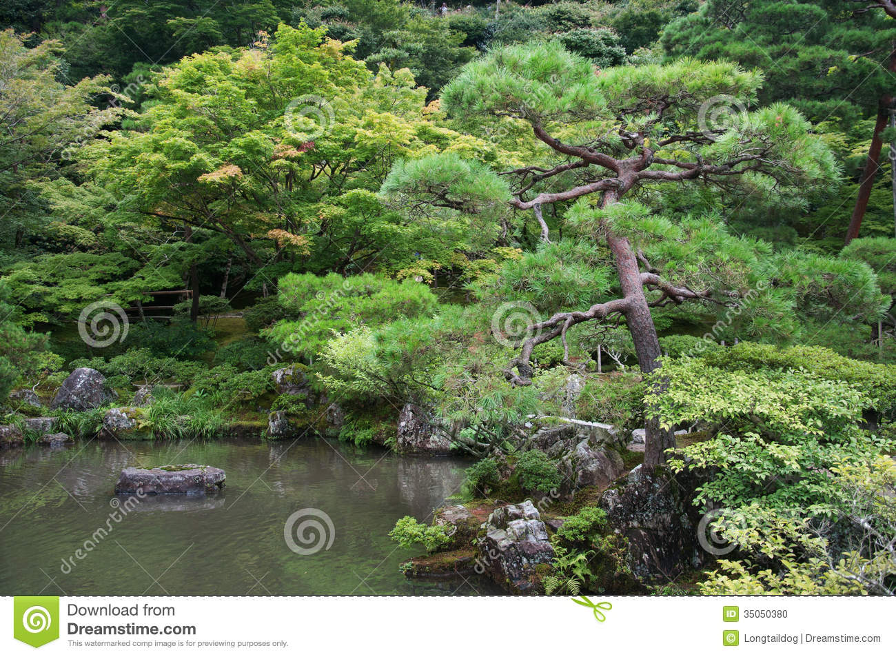 Elements of traditional japanese garden stock photo for Traditional japanese garden