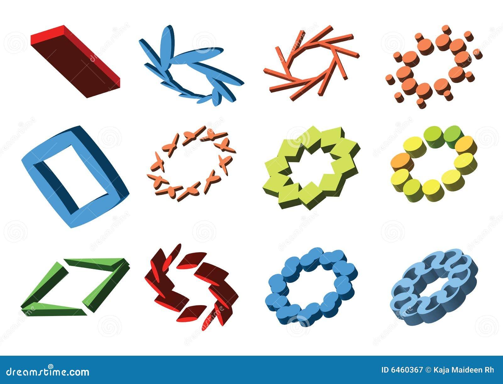 Elementy abstrakcyjne logo