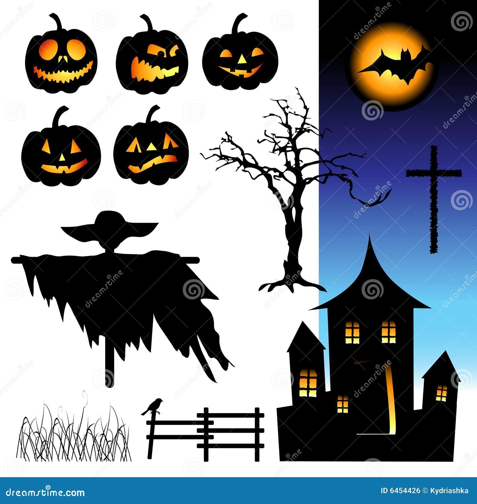 Elementy noc Halloween.