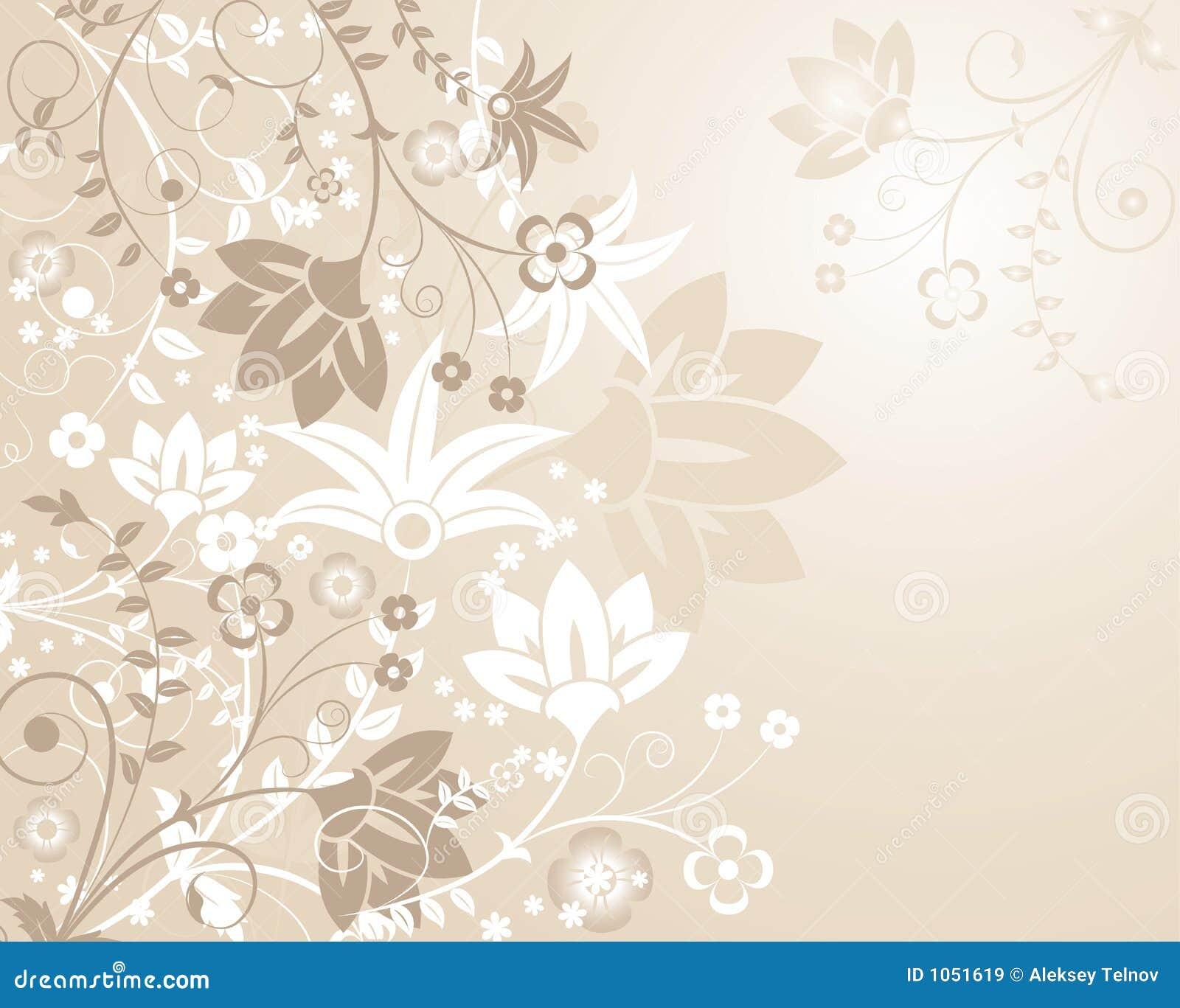 Elementy projektu tła kwiatek wektora