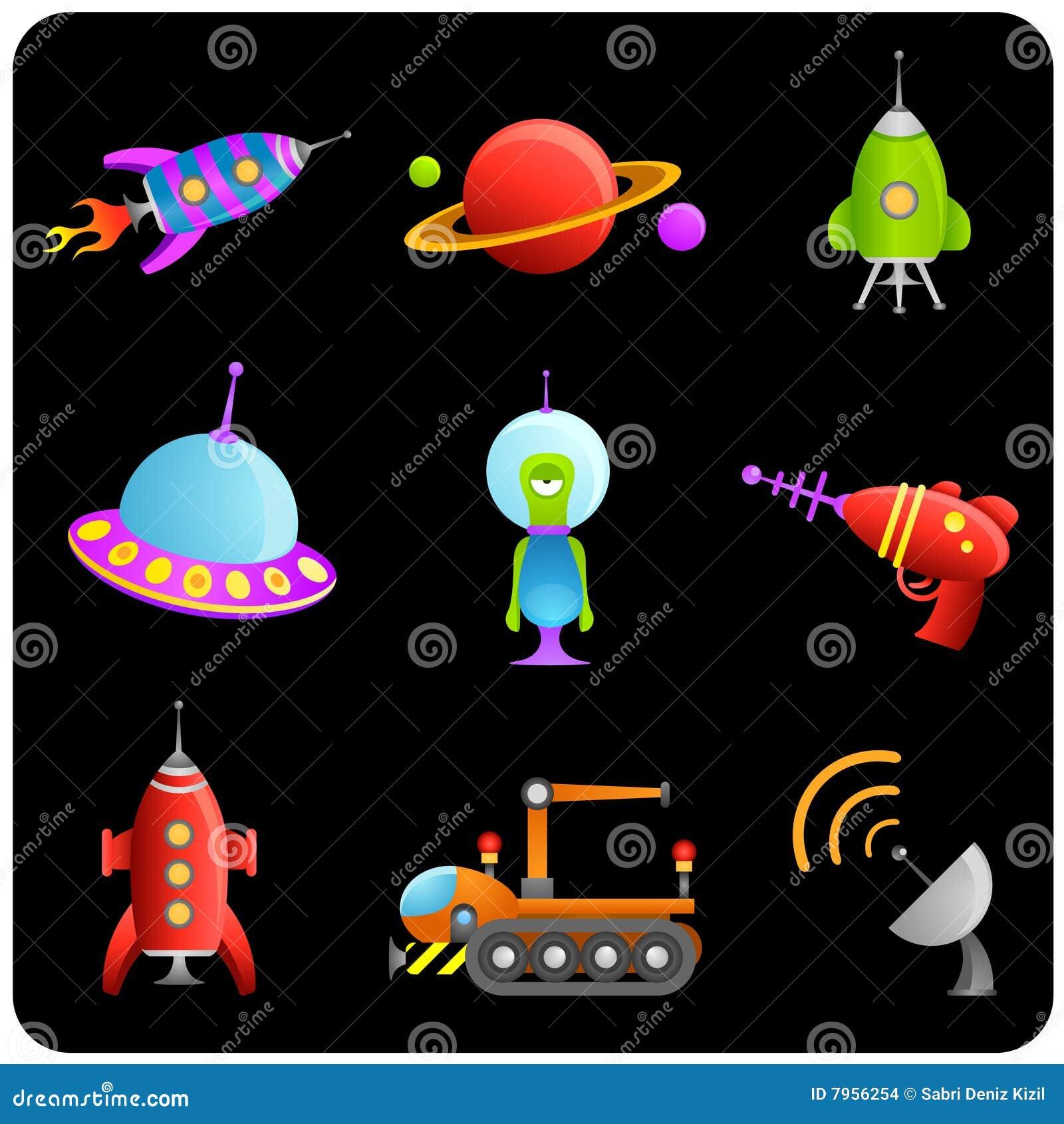 Elementy ustawiają astronautycznego wektor