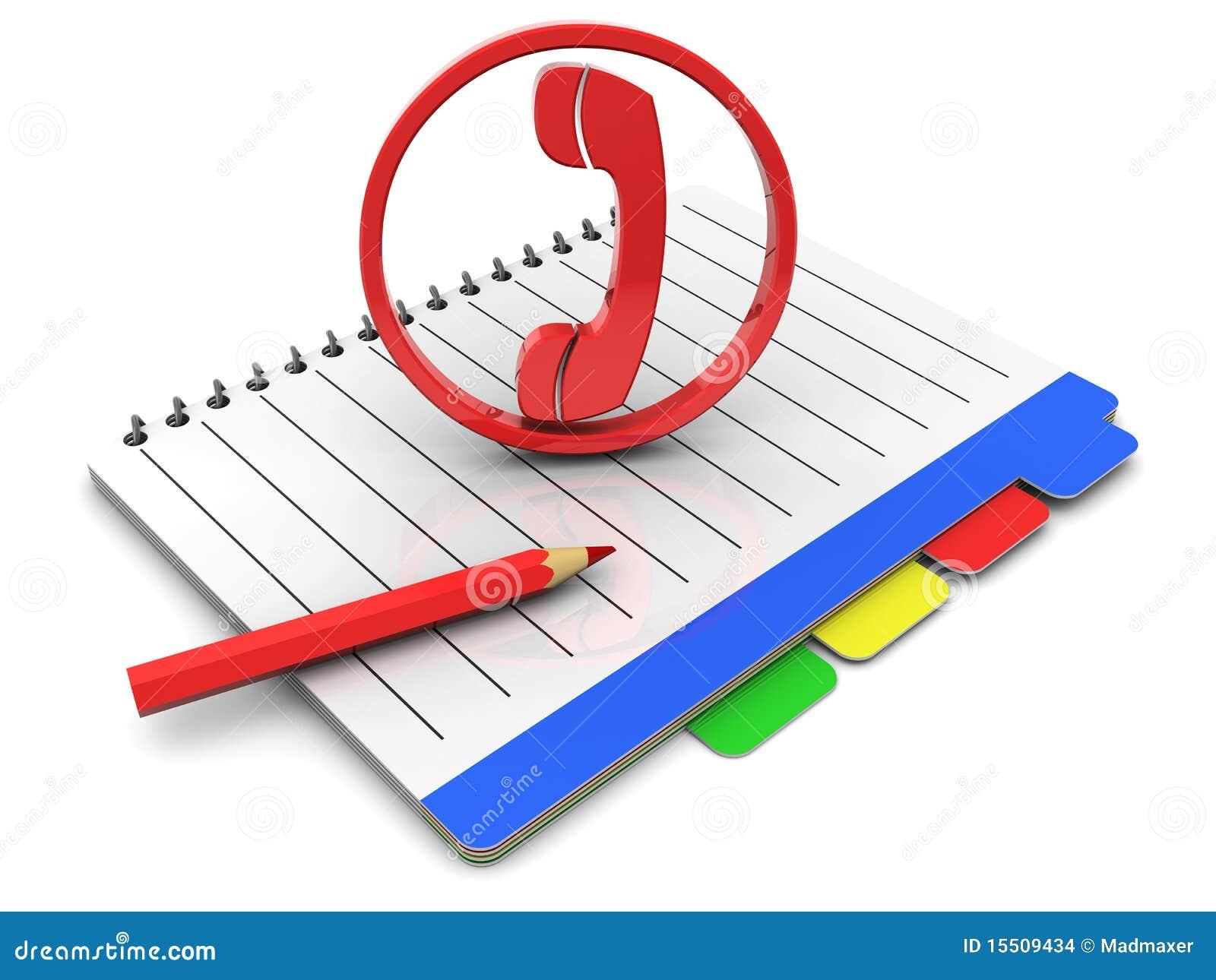 elenco telefonico illustrazione di stock  immagine di