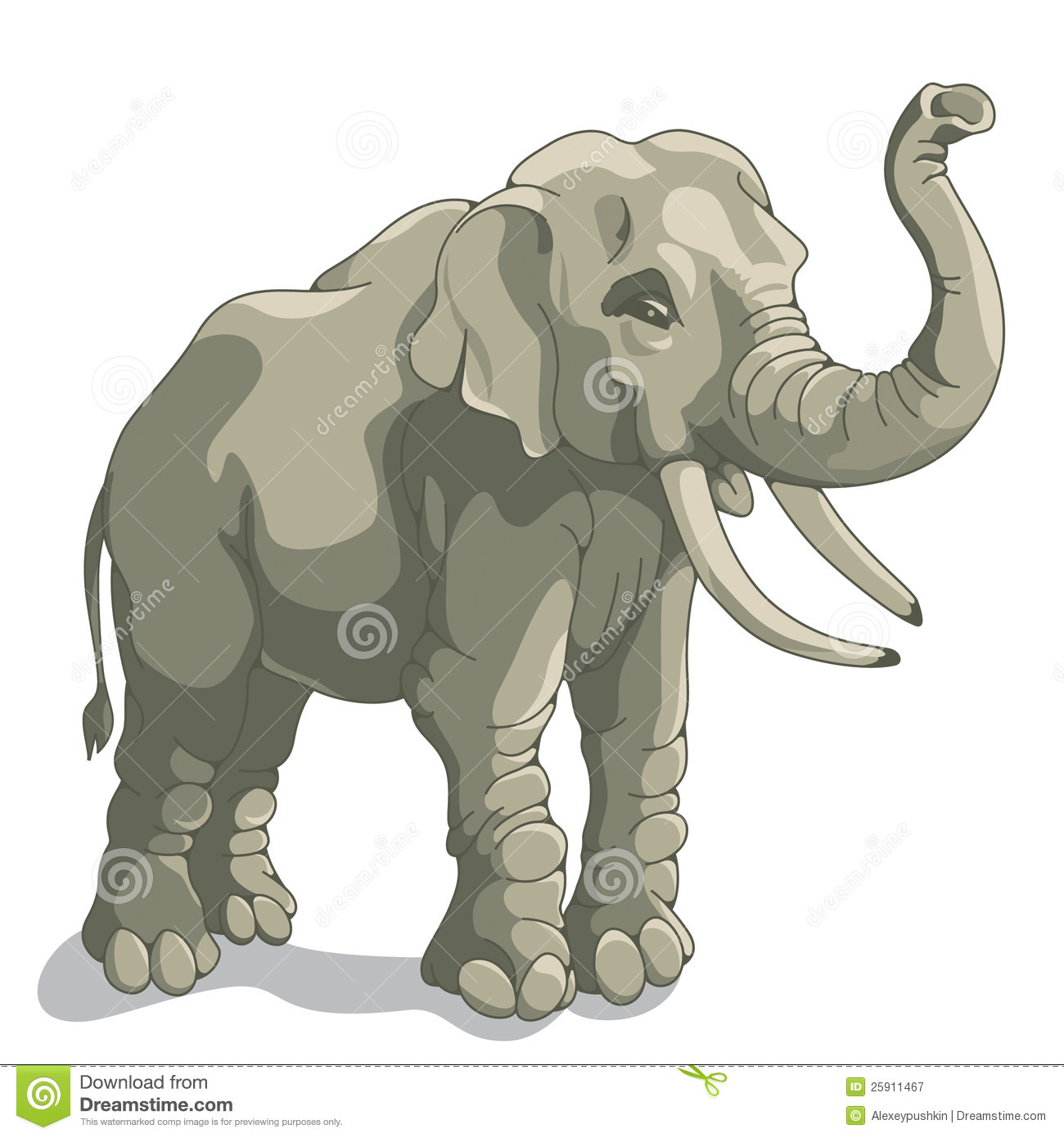 Elephant stock vector. Illustration of asian, african ...