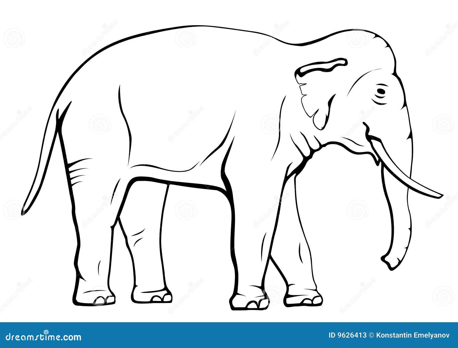 Elephant stock vector. Illustration of elephant ...
