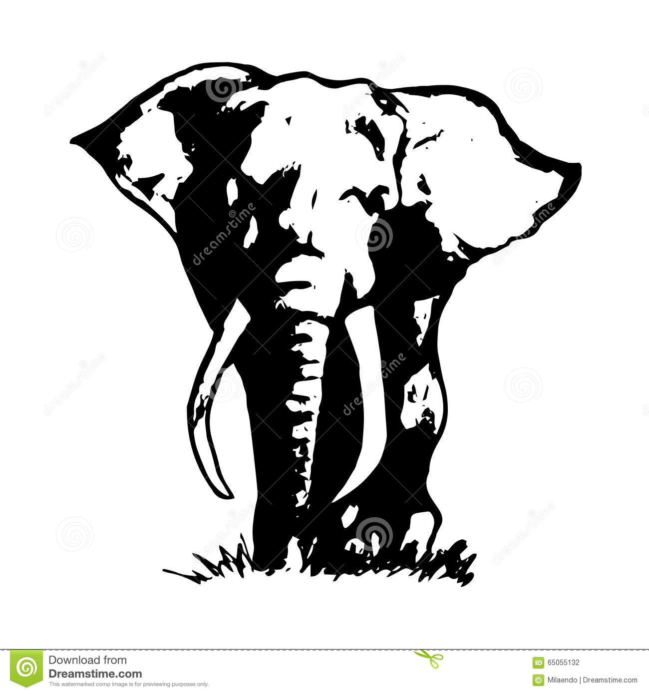 elephant abstraction black 1 stock vector image 65055132