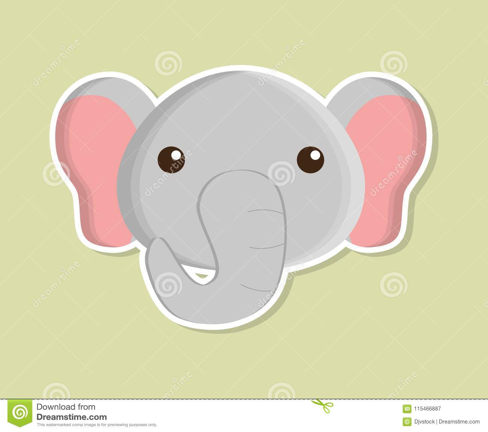 c584c01a634df Elephant Animal Cute Little Design. Stock Vector - Illustration of ...