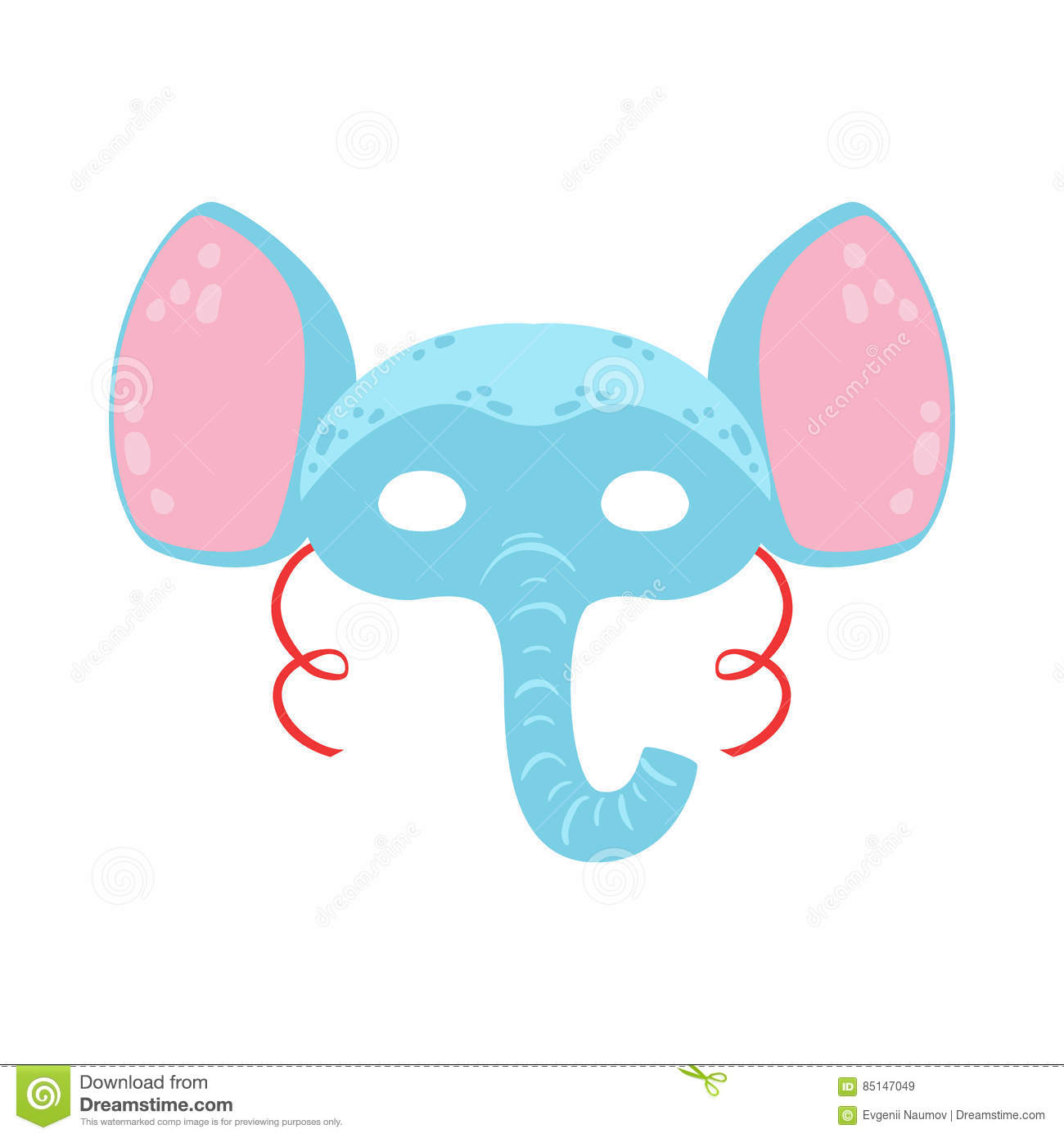 Elephant Animal Head Mask, Kids Carnival Disguise Costume Element
