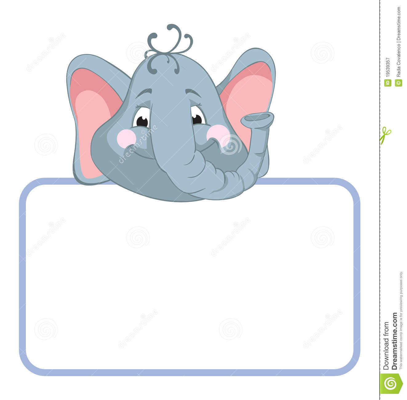 elephant baby animal banner royalty free stock photography image 19539357 birthday clip art borders free birthday clip art borders and frames