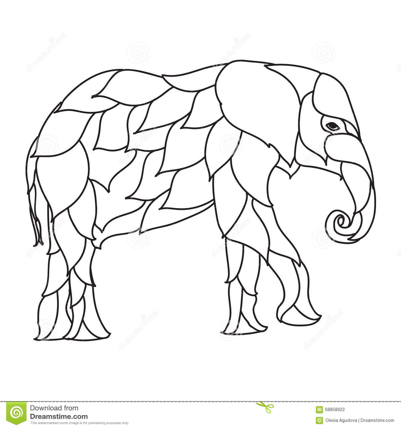 anti stress coloring pages elephants
