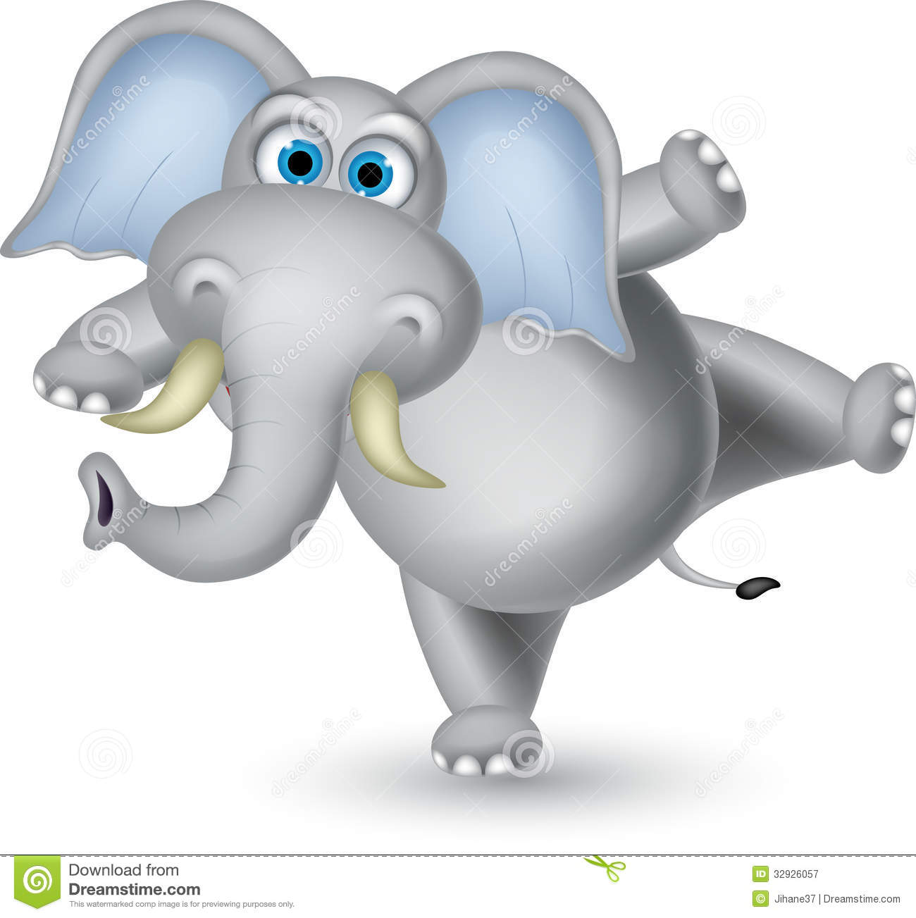 Elephant Cartoon Dancing Royalty Free Stock Photography - Image ...