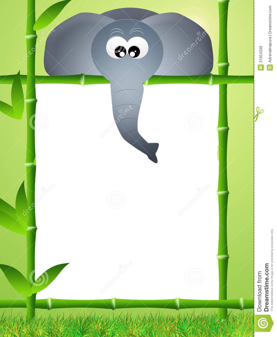 royalty free stock photo - Elephant Picture Frame