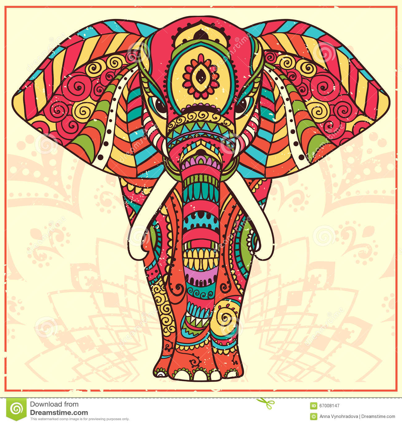 Asombroso Página De Color Elefante Motivo - Enmarcado Para Colorear ...