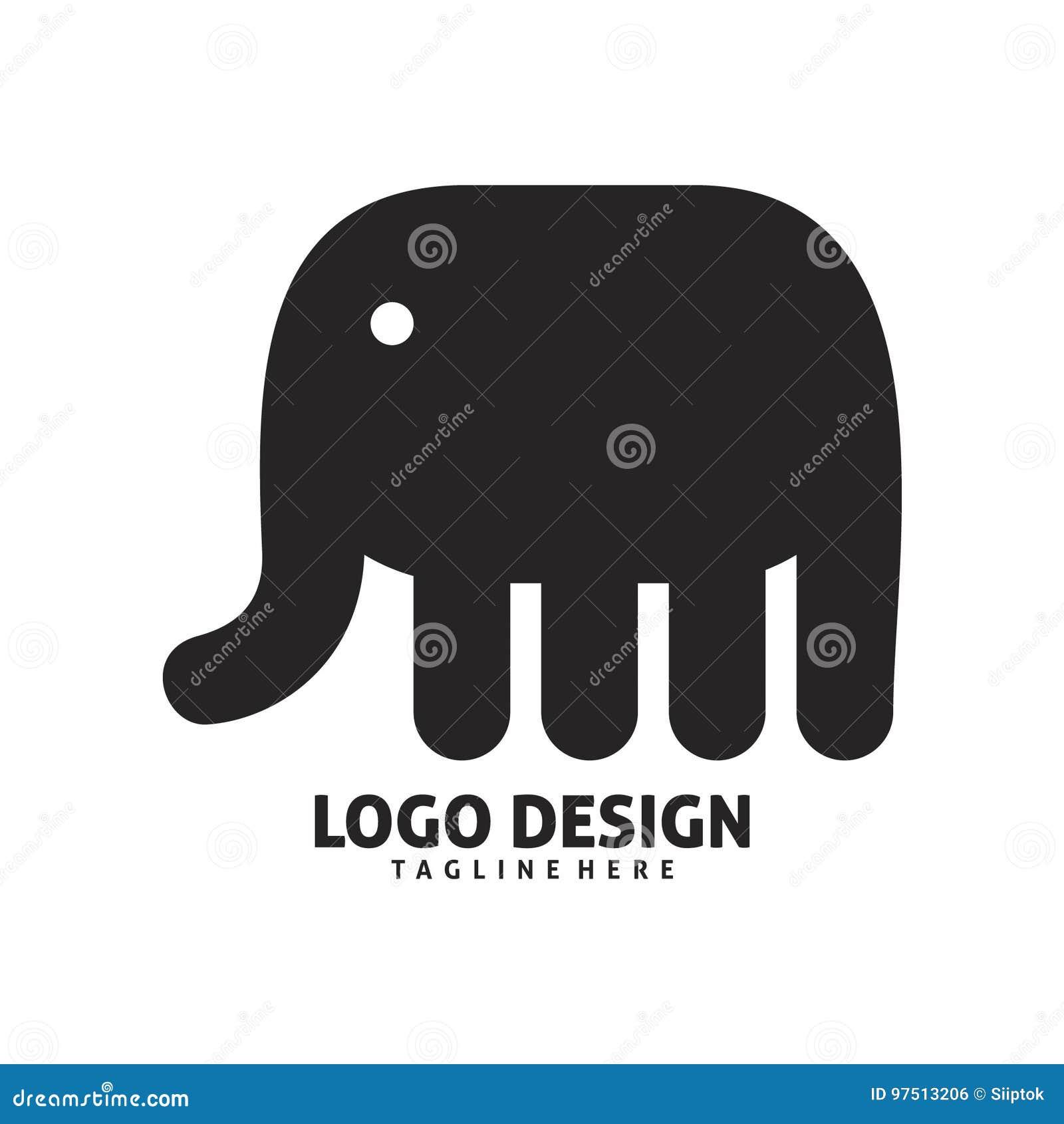 Elephant color logo design stock illustration. Illustration of ...
