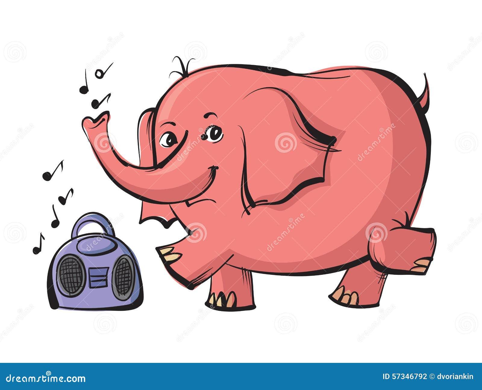 Elephant Dancing Stock Vector - Image: 57346792