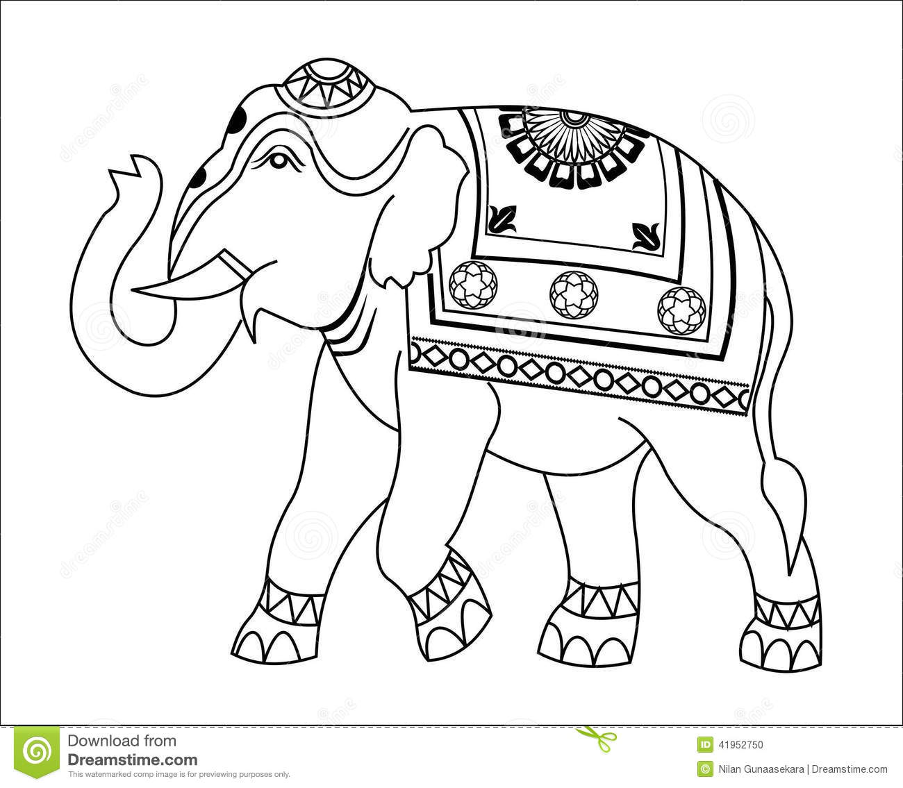 Line art elephant design white fill with some flower designs - Pinterest The World S Catalog Of Ideas