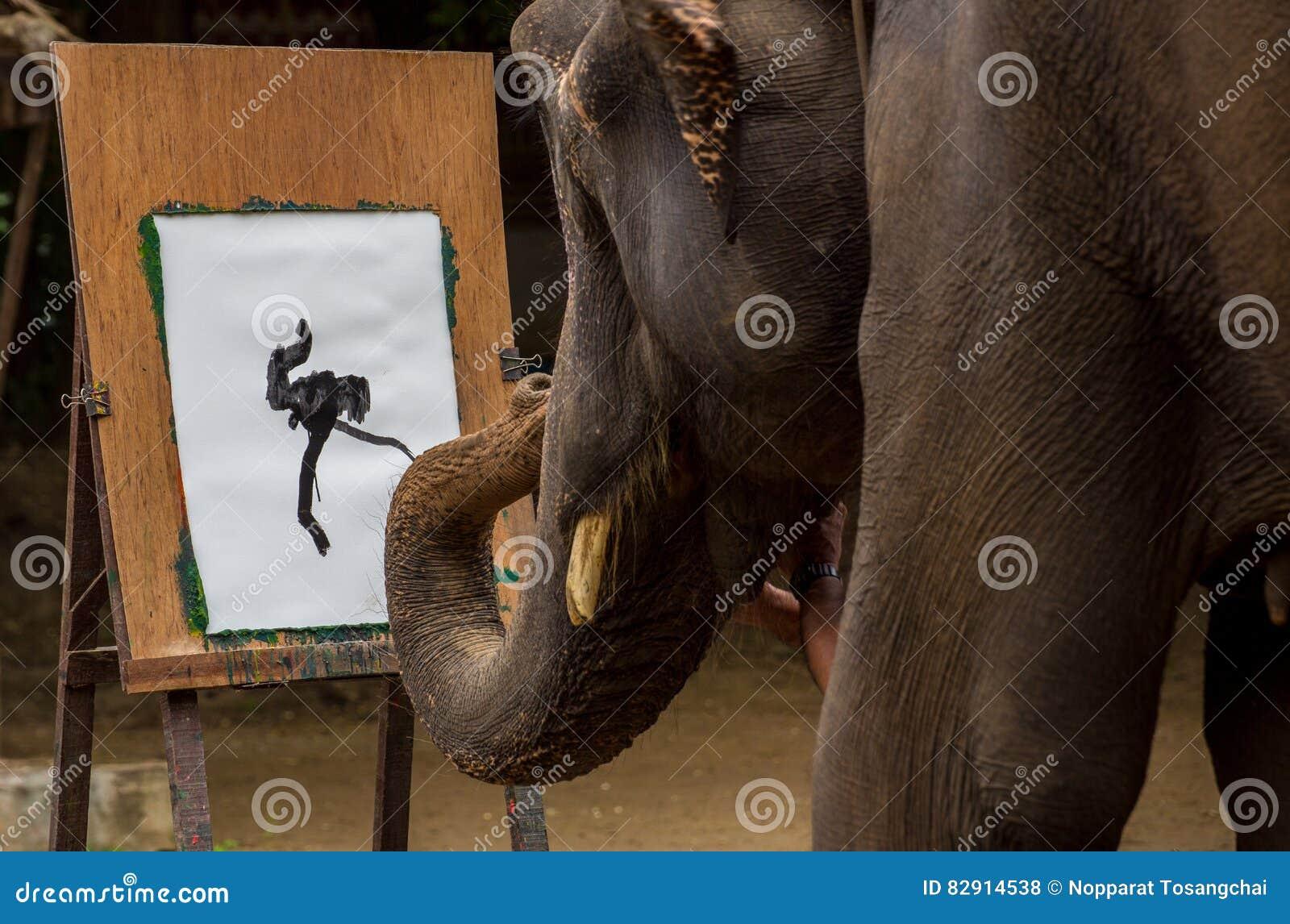 Elephant is drawing art