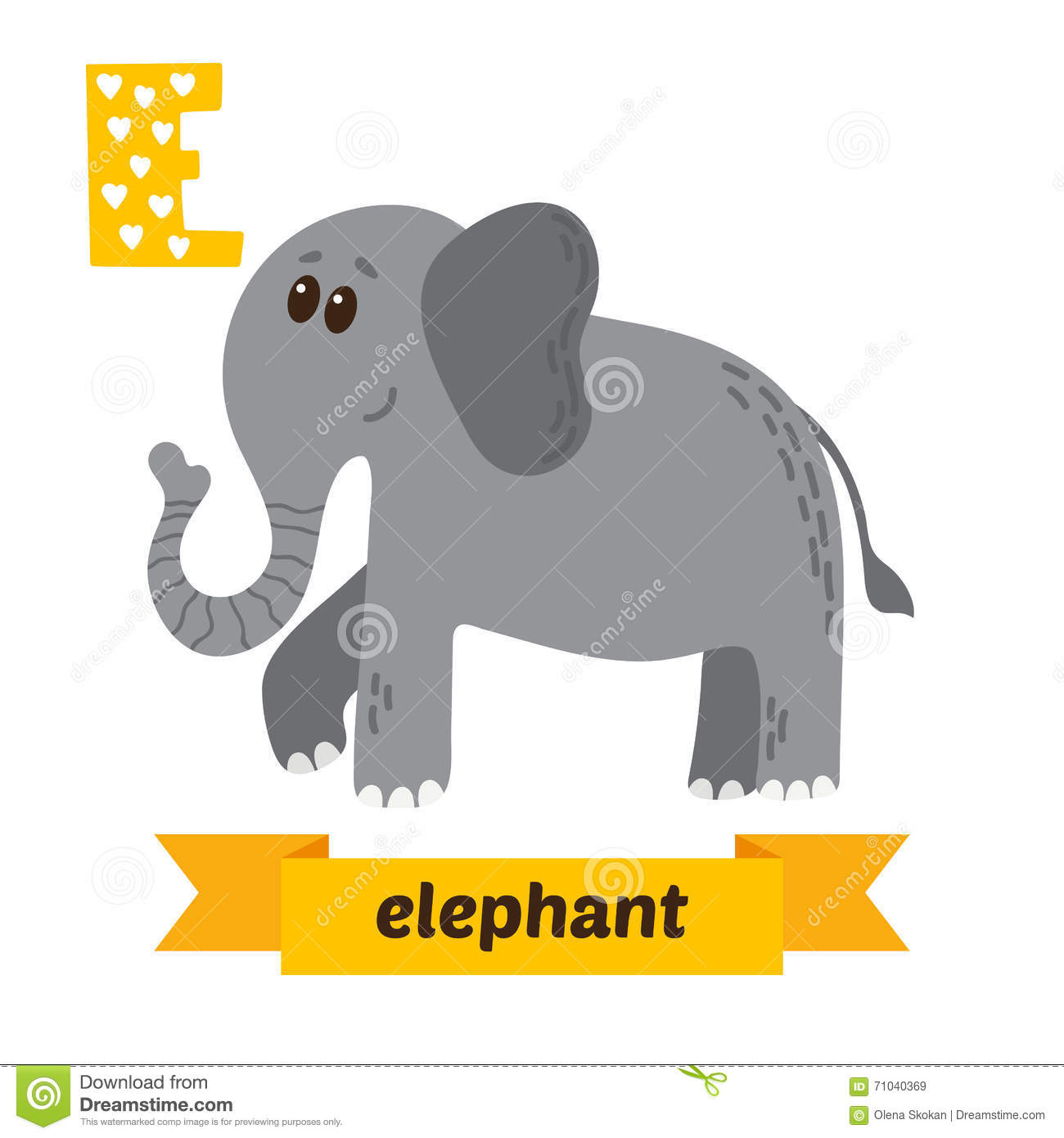 animals that start with the letter e elephant e letter cute children animal alphabet in 1077