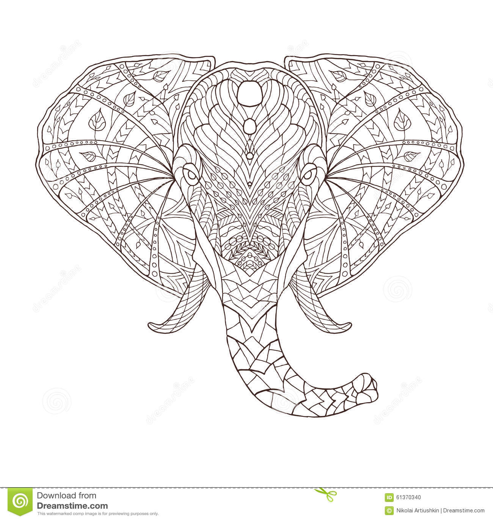 Elephant. Ethnic Patterned Vector Illustration Stock Vector ...