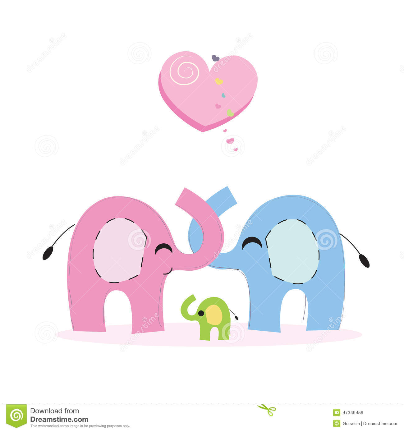 Elephant Vector Art For Baby Room