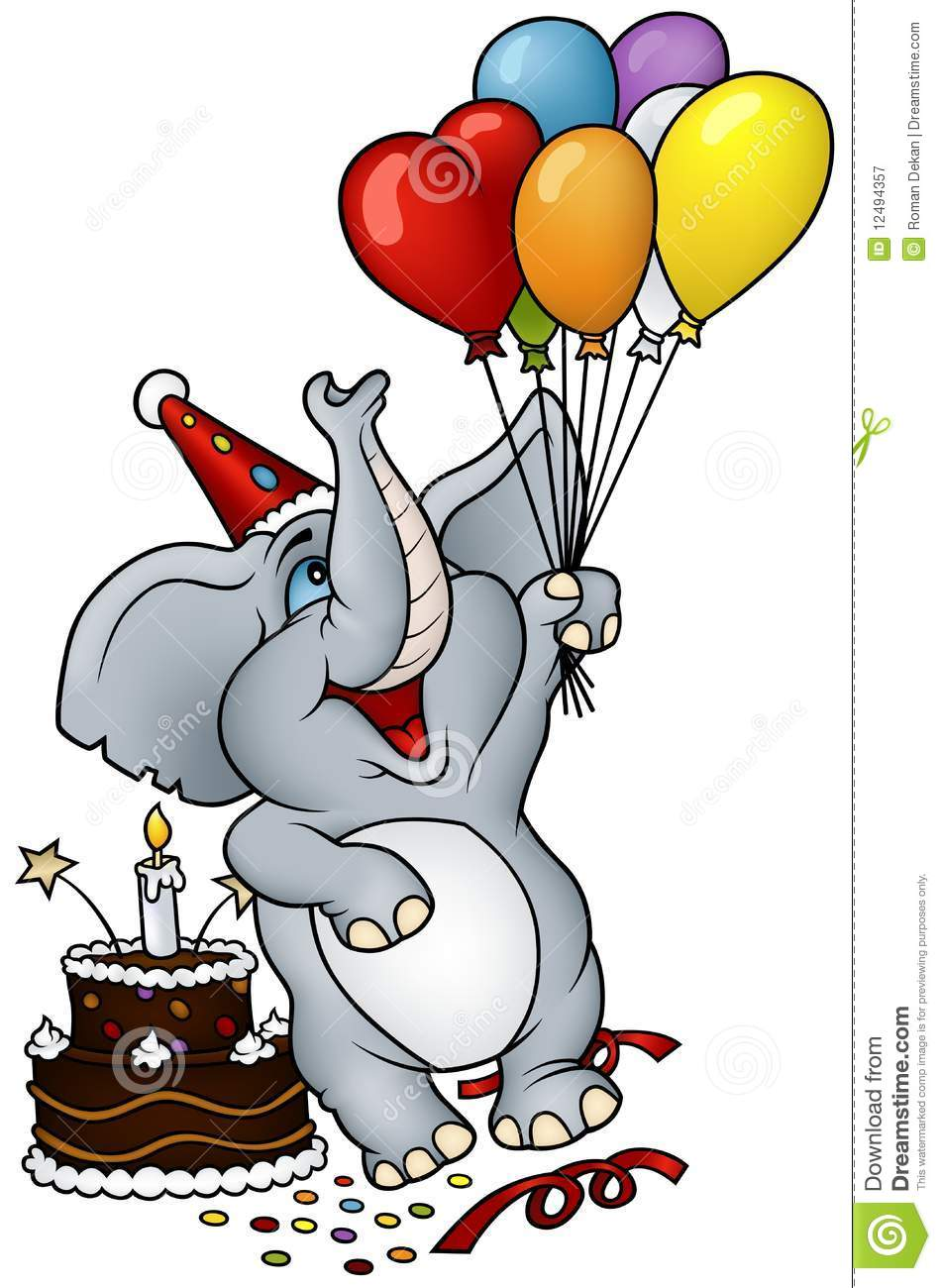 Elephant happy birthday stock vector illustration of for Geburtstagsbilder 18