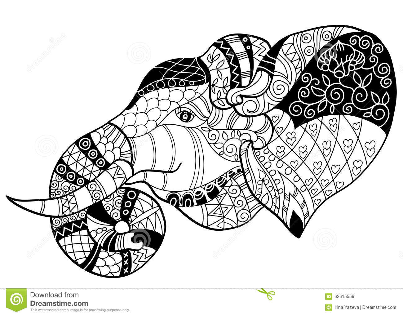 Animated Elephant Coloring Pages