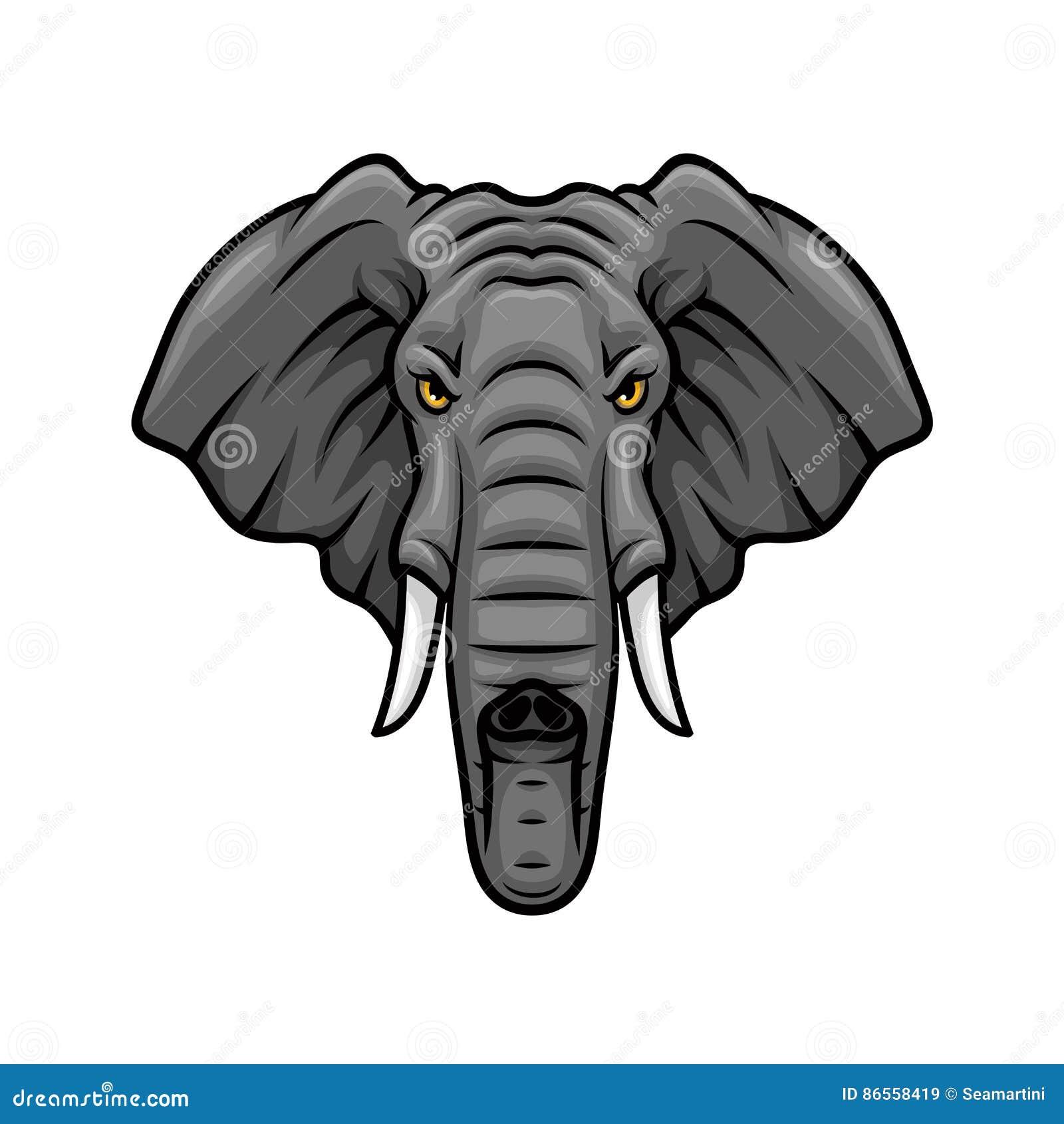 Elephant Tusk Ear Trunk Safari Africa Stock Illustrations – 142 ...