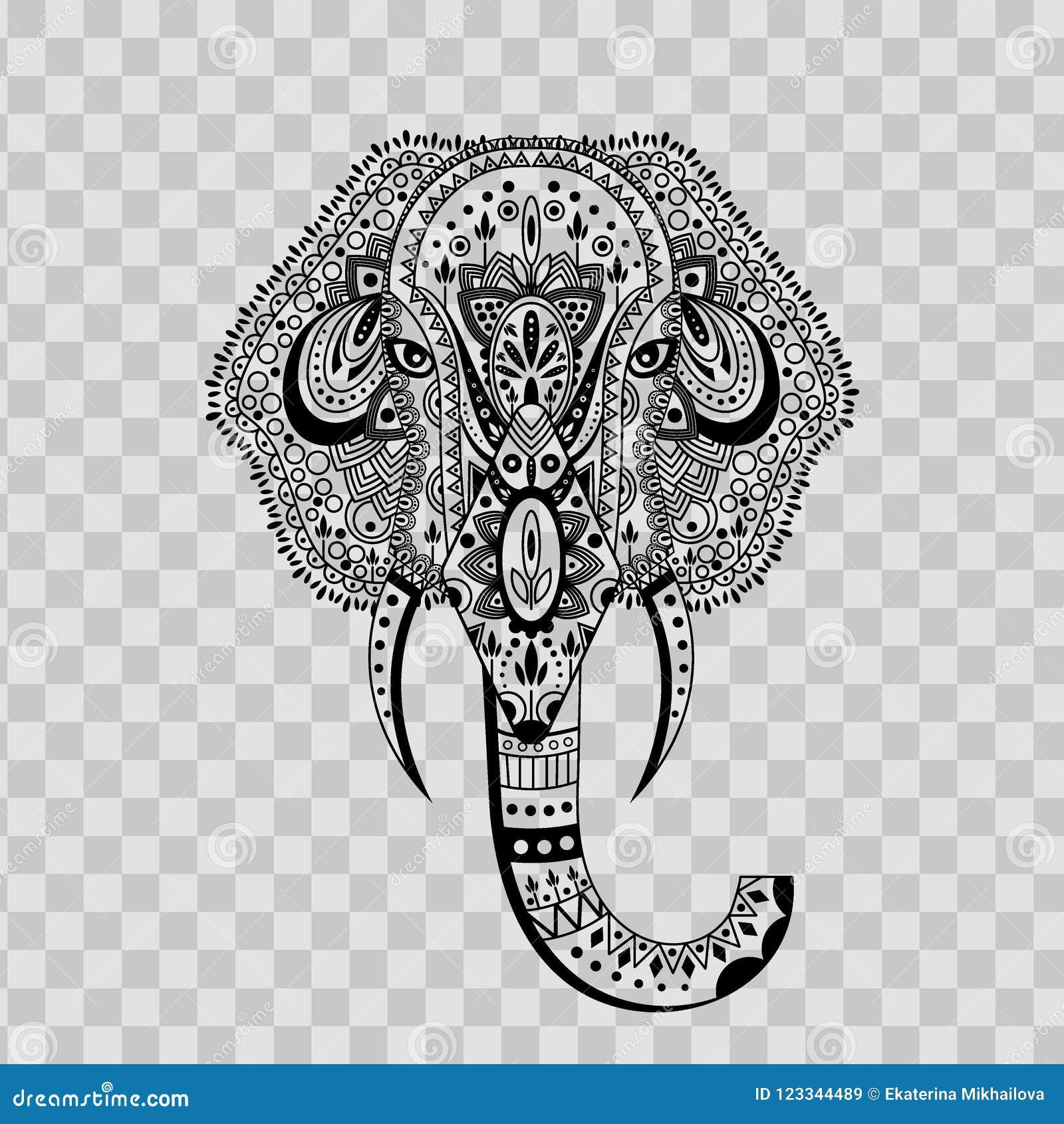 Decorative Indian Elephant Transparent Clip Art Image t