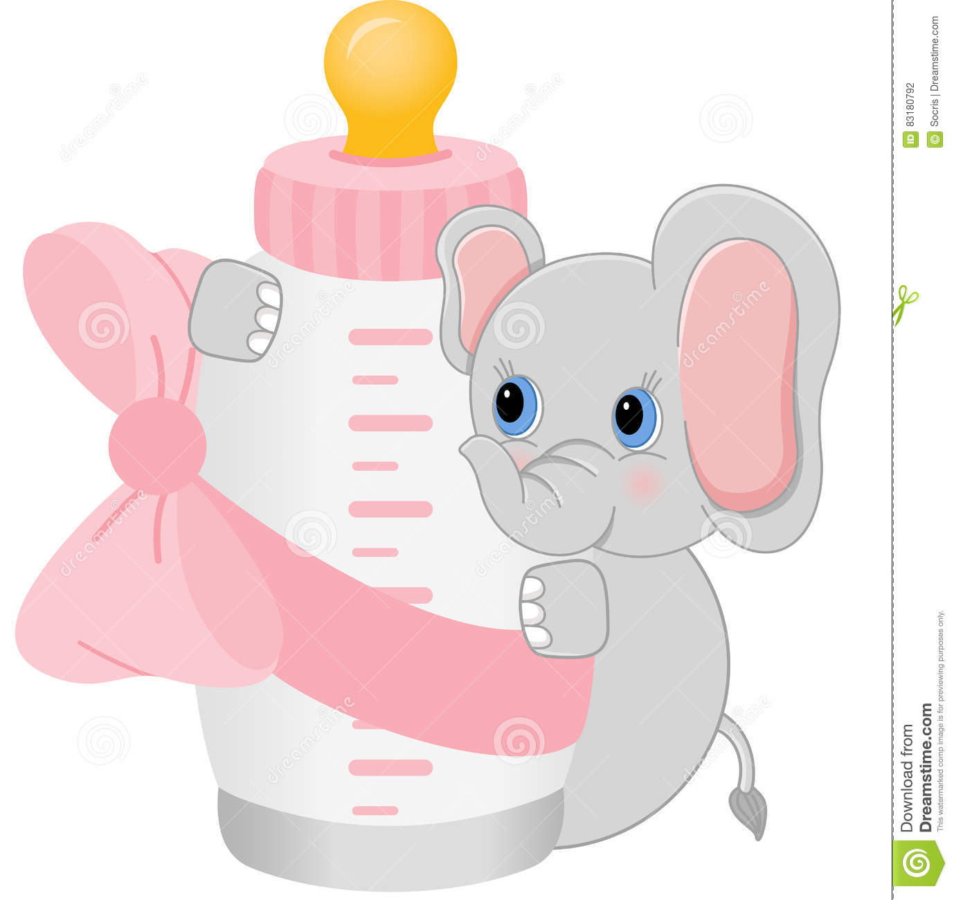 elephant holding baby bottle it s a girl stock vector baby bottle clipart bw baby bottle clipart for wood pattern