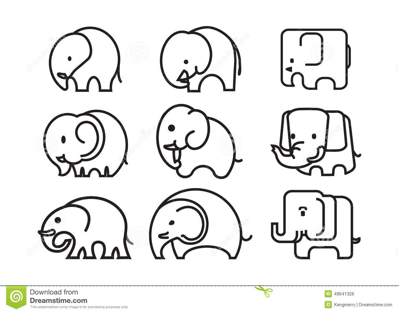Elephant icon stock vector  Illustration of africa, symbol - 49641326