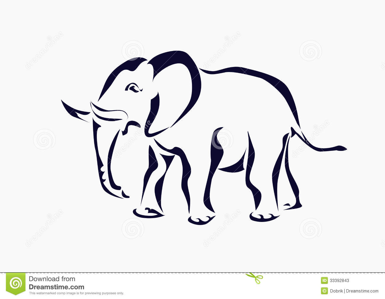 Elephant , Icon ,tattoo . Stock Photos - Image: 33392843