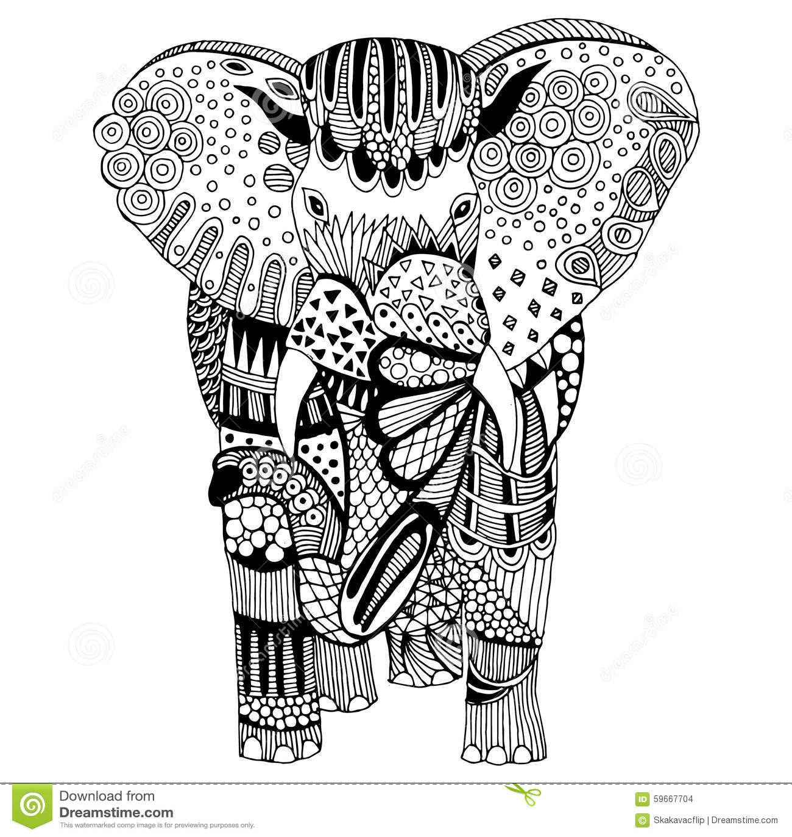Elephant Illustration Stock Illustration Image 59667704