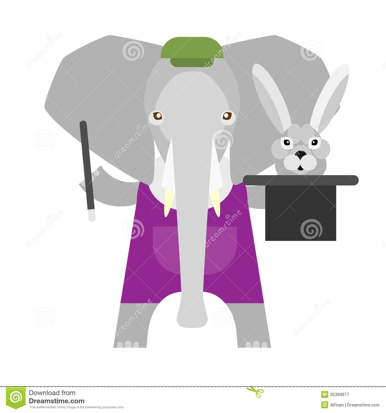 elephant-magician-illustration-white-bac