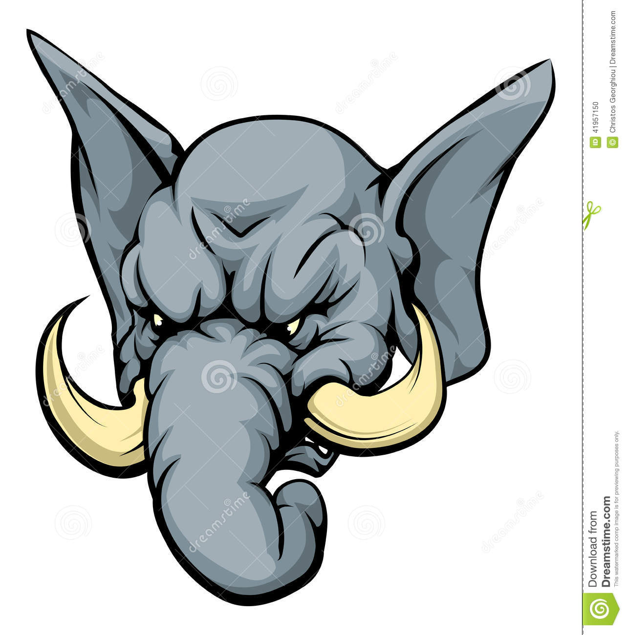 Elephant Mascot Character Stock Vector - Image: 41957150 Raccoon Face Clip Art