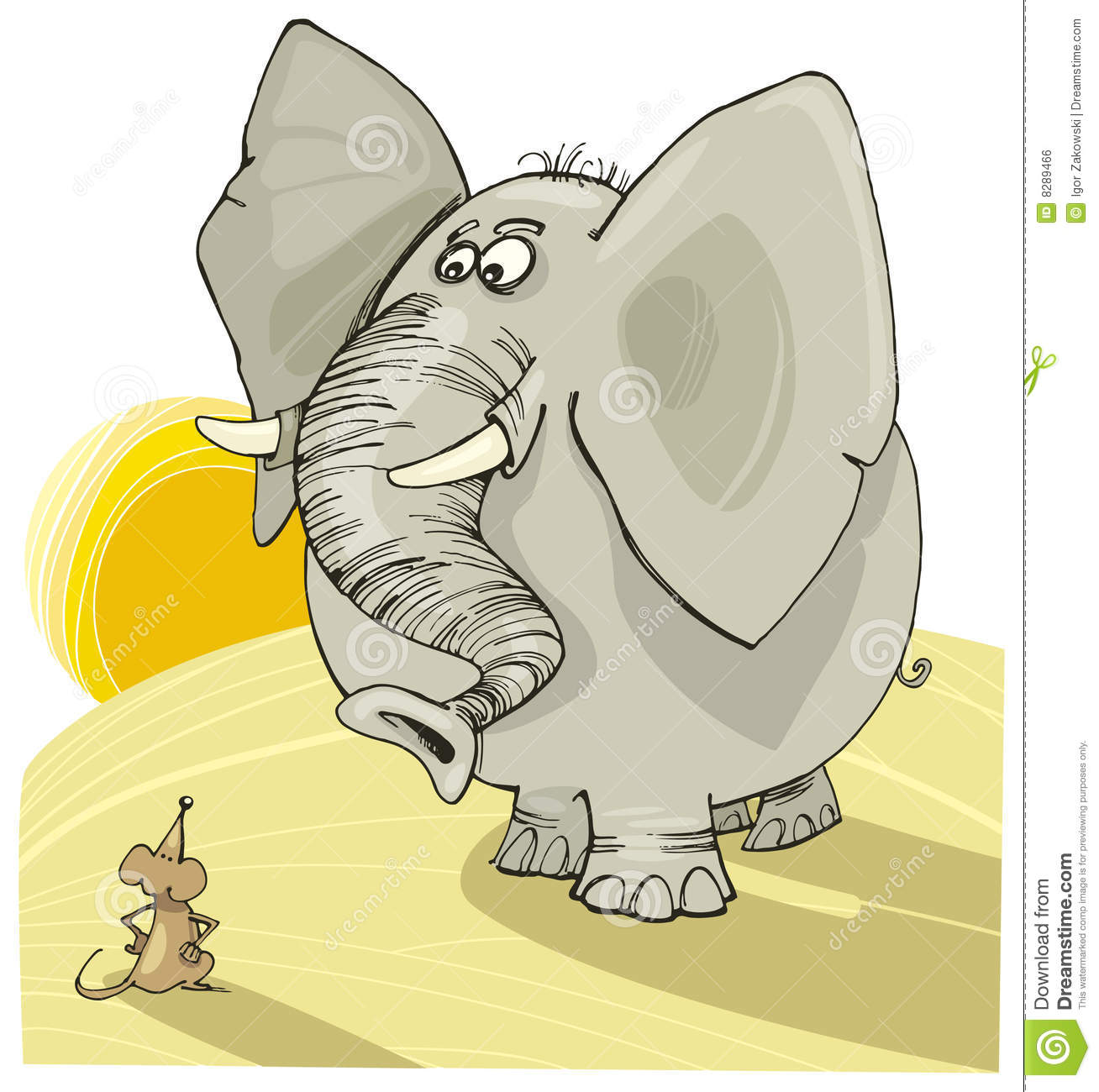 elephant and mouse stock vector illustration of witty