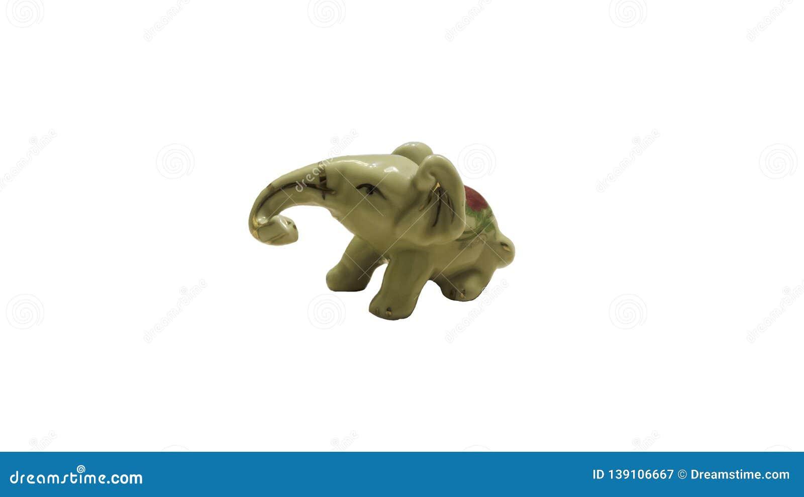 Elephant plaster statuette