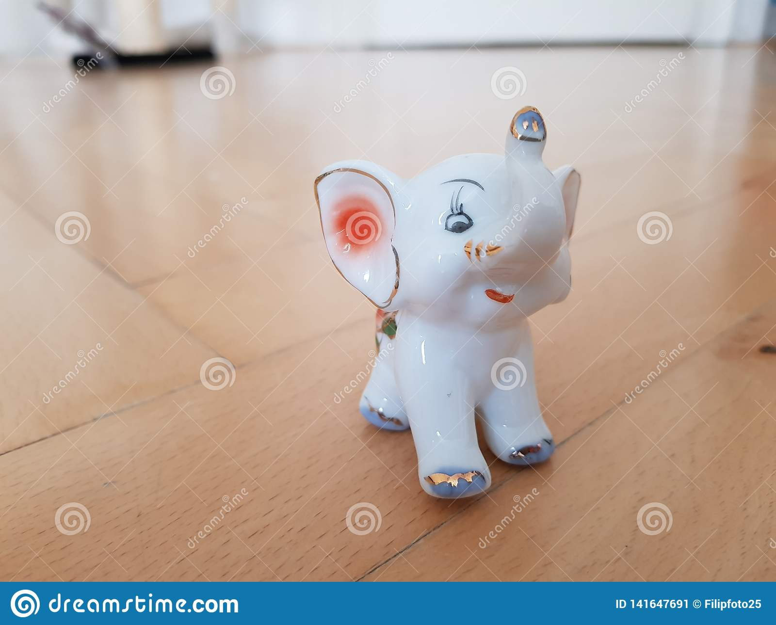 Elephant from porcelain