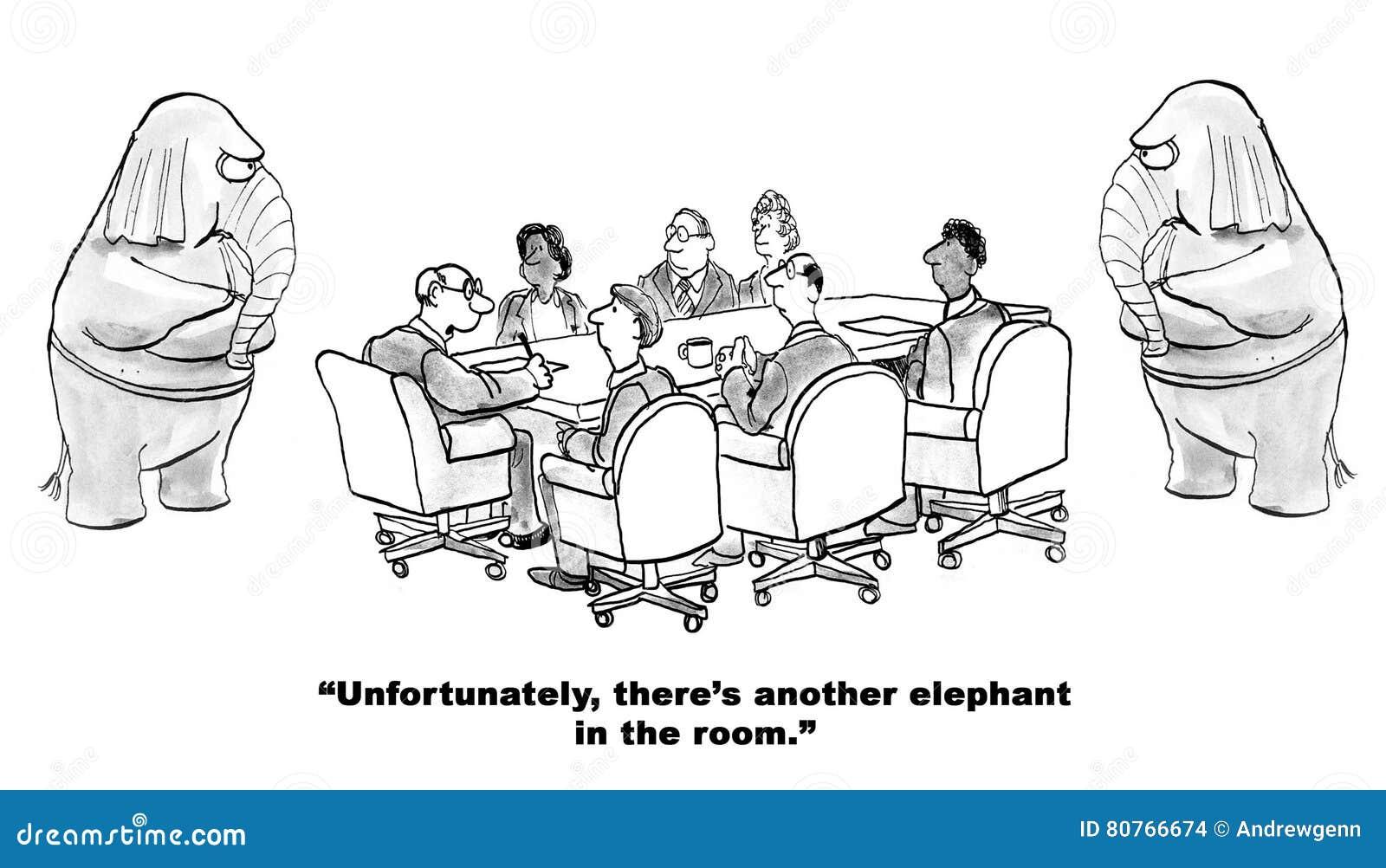 Elephant In The Room Stock Illustration Illustration Of
