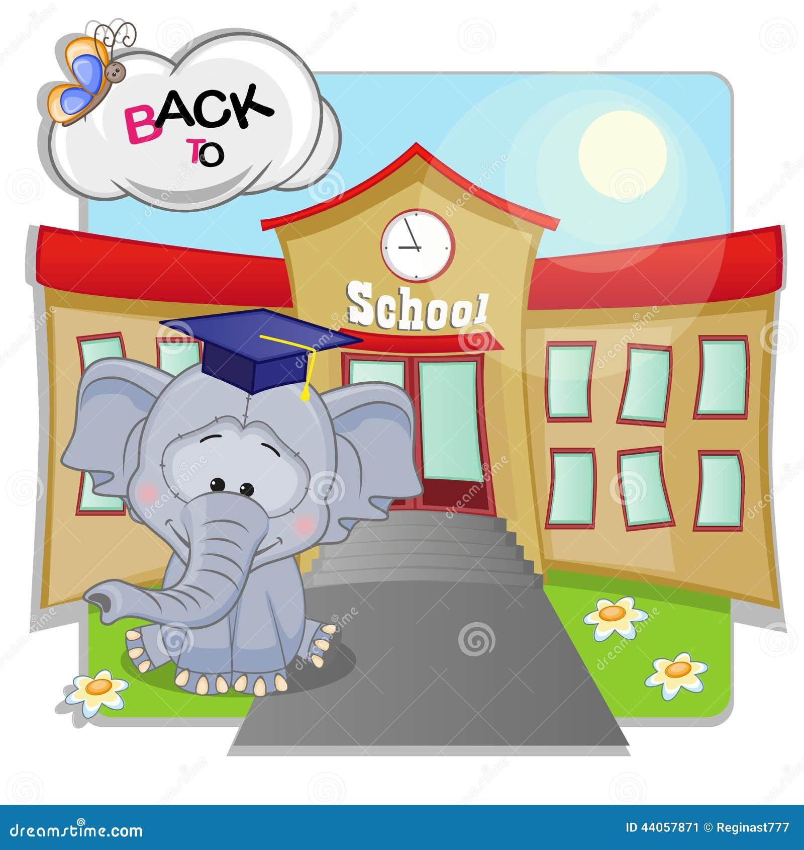 Elephant and school