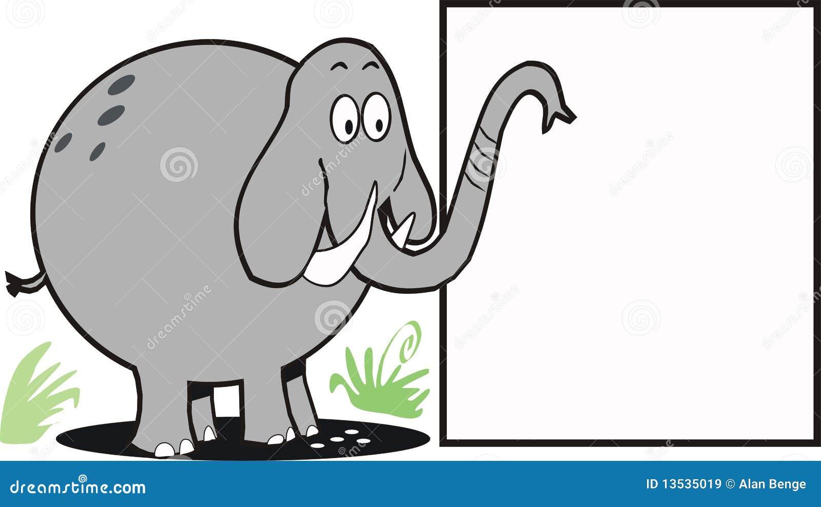 Elephant Sign Cartoon Royalty Free Stock Images - Image ...