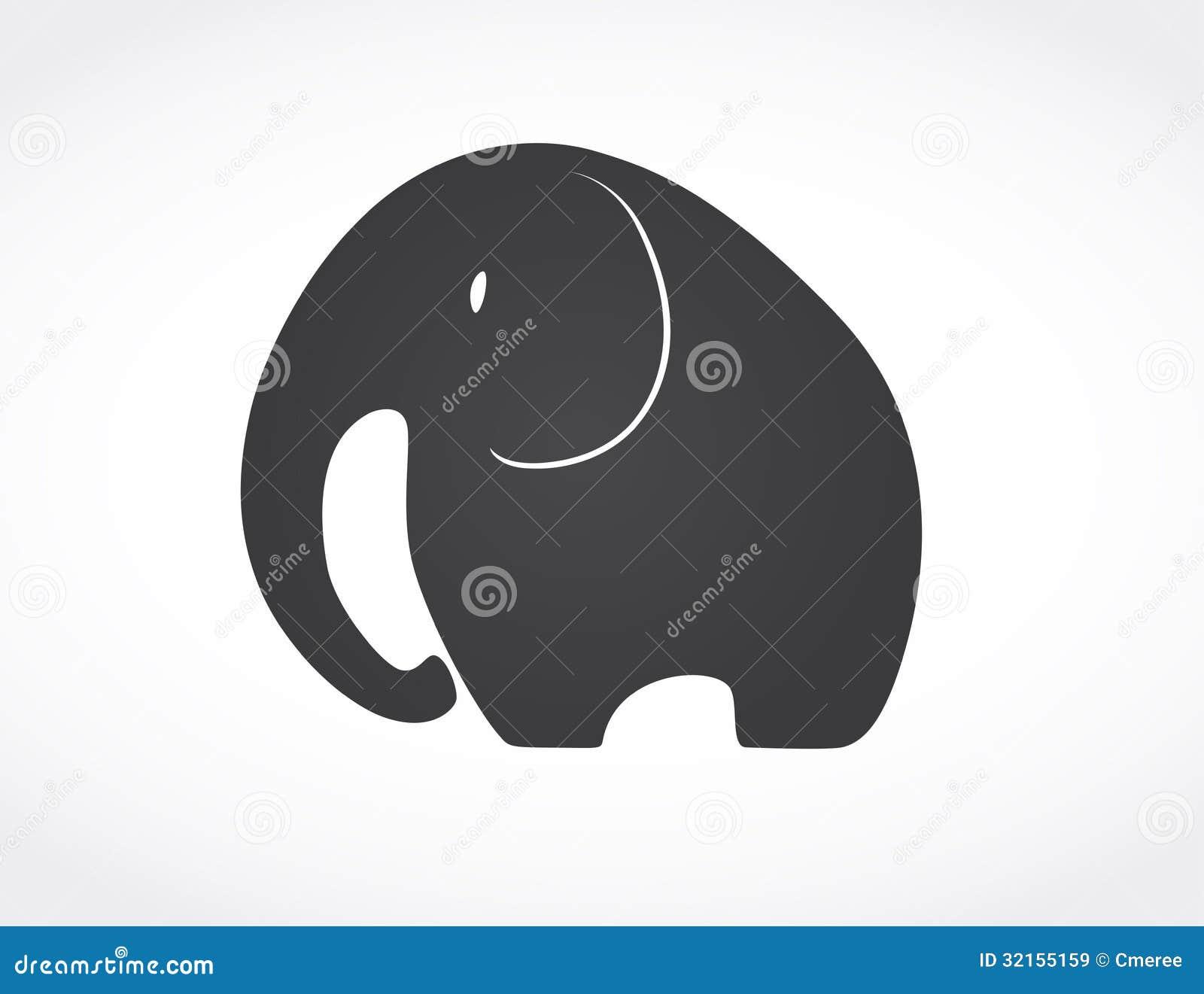 Elephant royalty free stock images image 32155159 for Illustration minimaliste