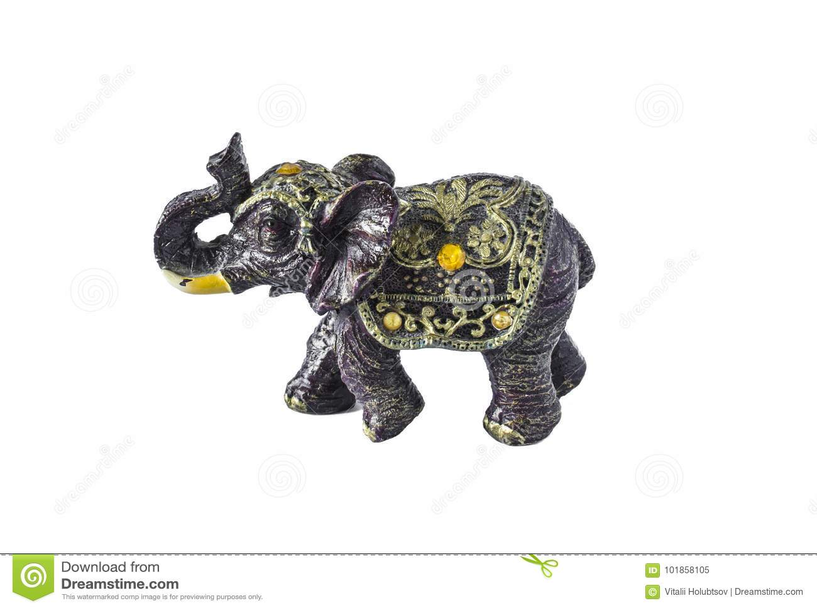Elephant A Symbol Of Good Luck Elephant Isolated On White