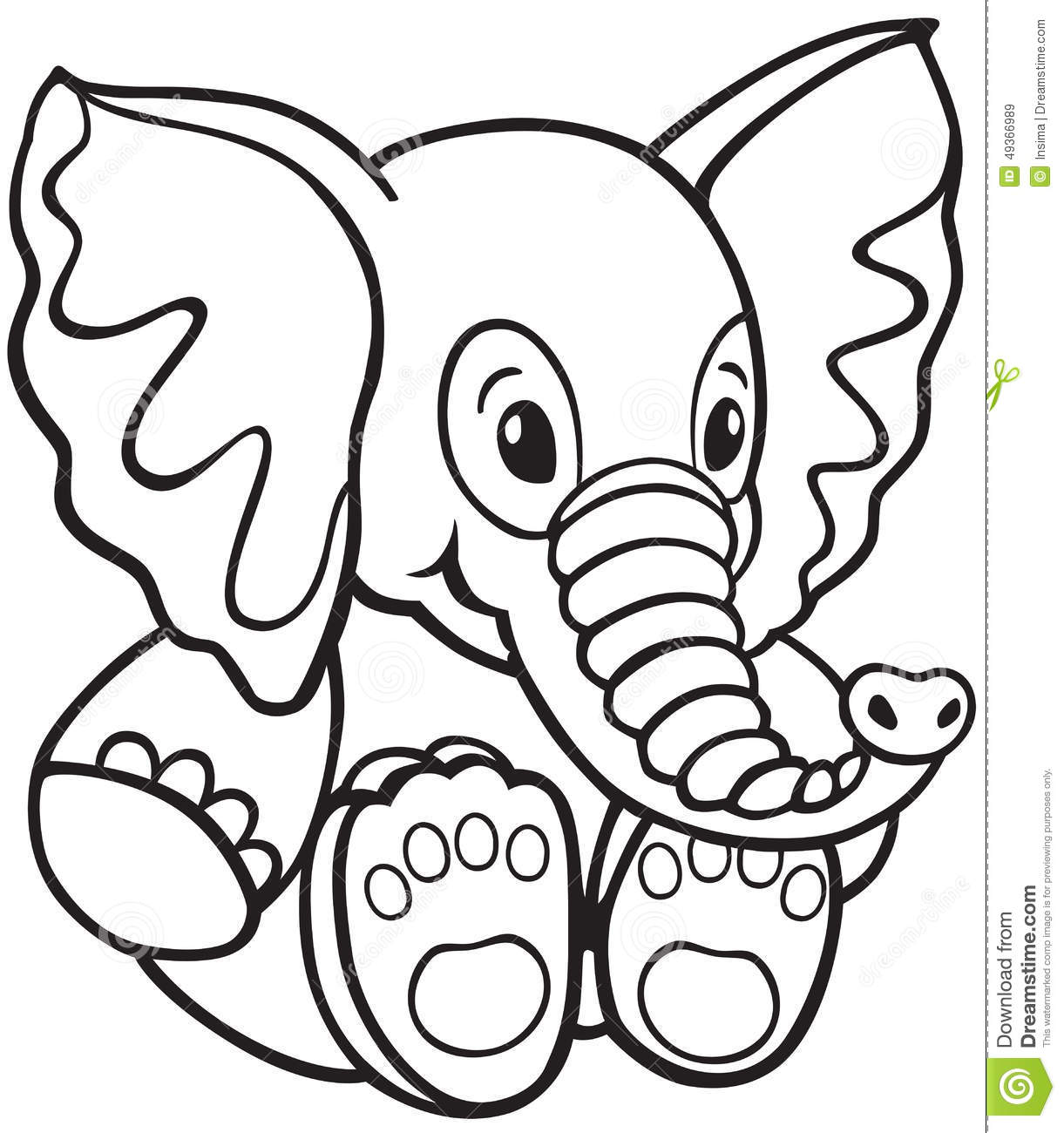 Toddler Toys Black And White : Elephant toy stock vector image of white black