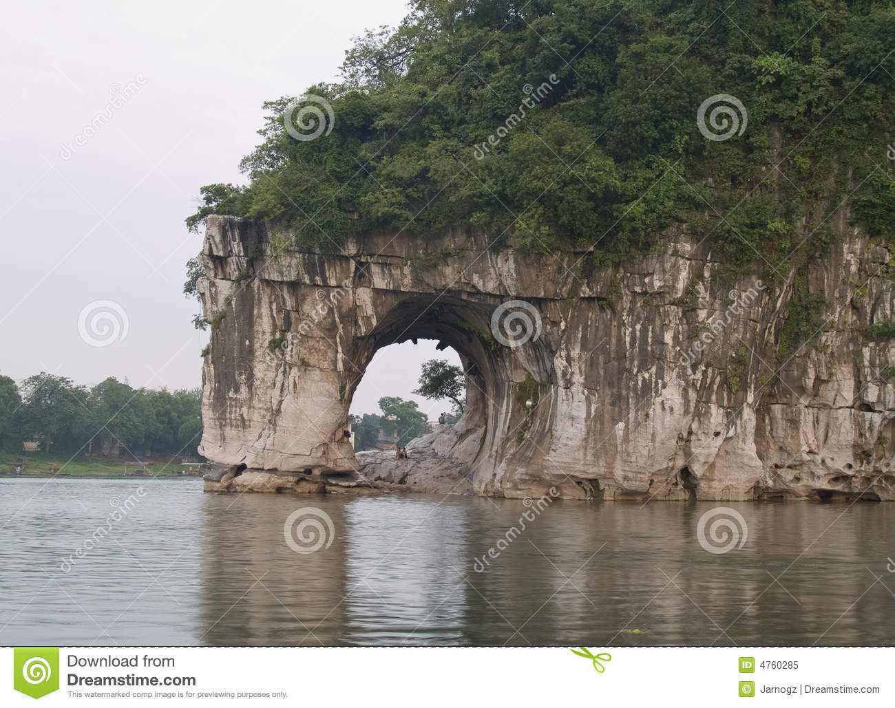 The Elephant Trunk Hill is a landmark and tourist attraction in Guilin ...