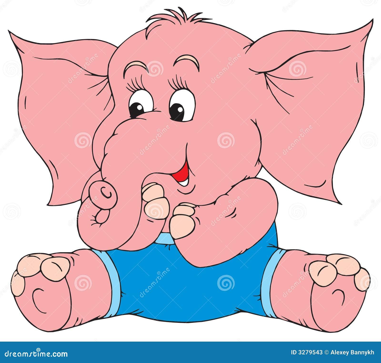 Elephant (vector clip-art) stock vector. Illustration of ...