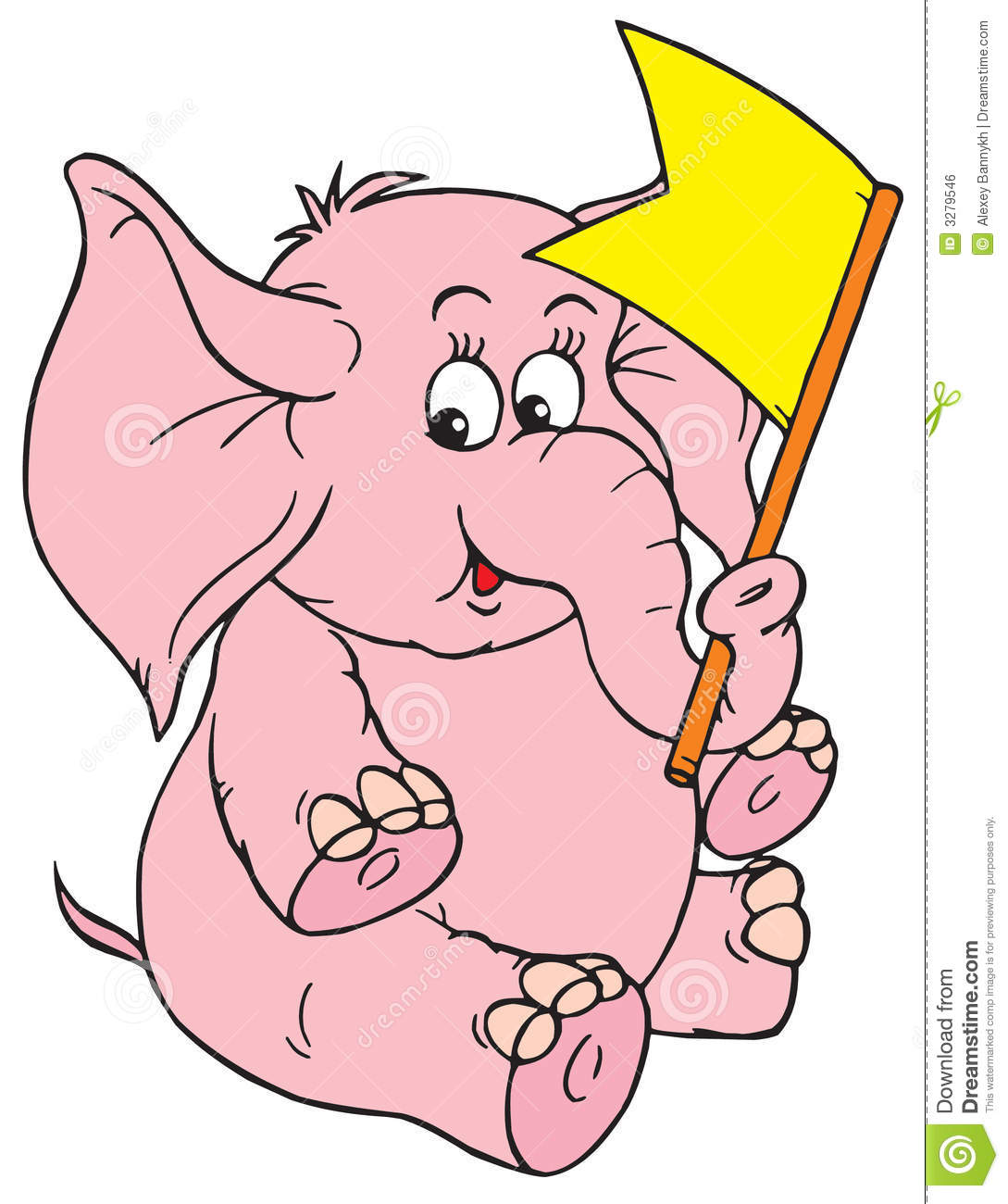 Elephant (vector Clip-art) Royalty Free Stock Image - Image: 3279546