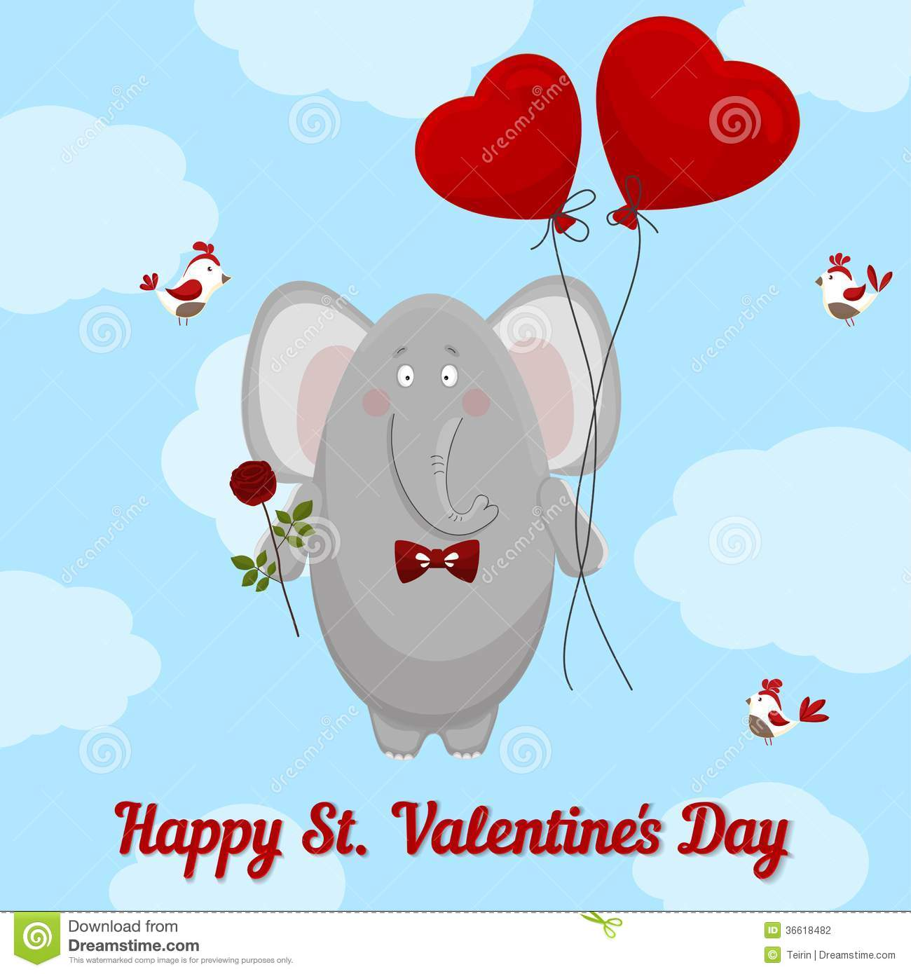 The Elephant Wishes Happy Valentine S Day.