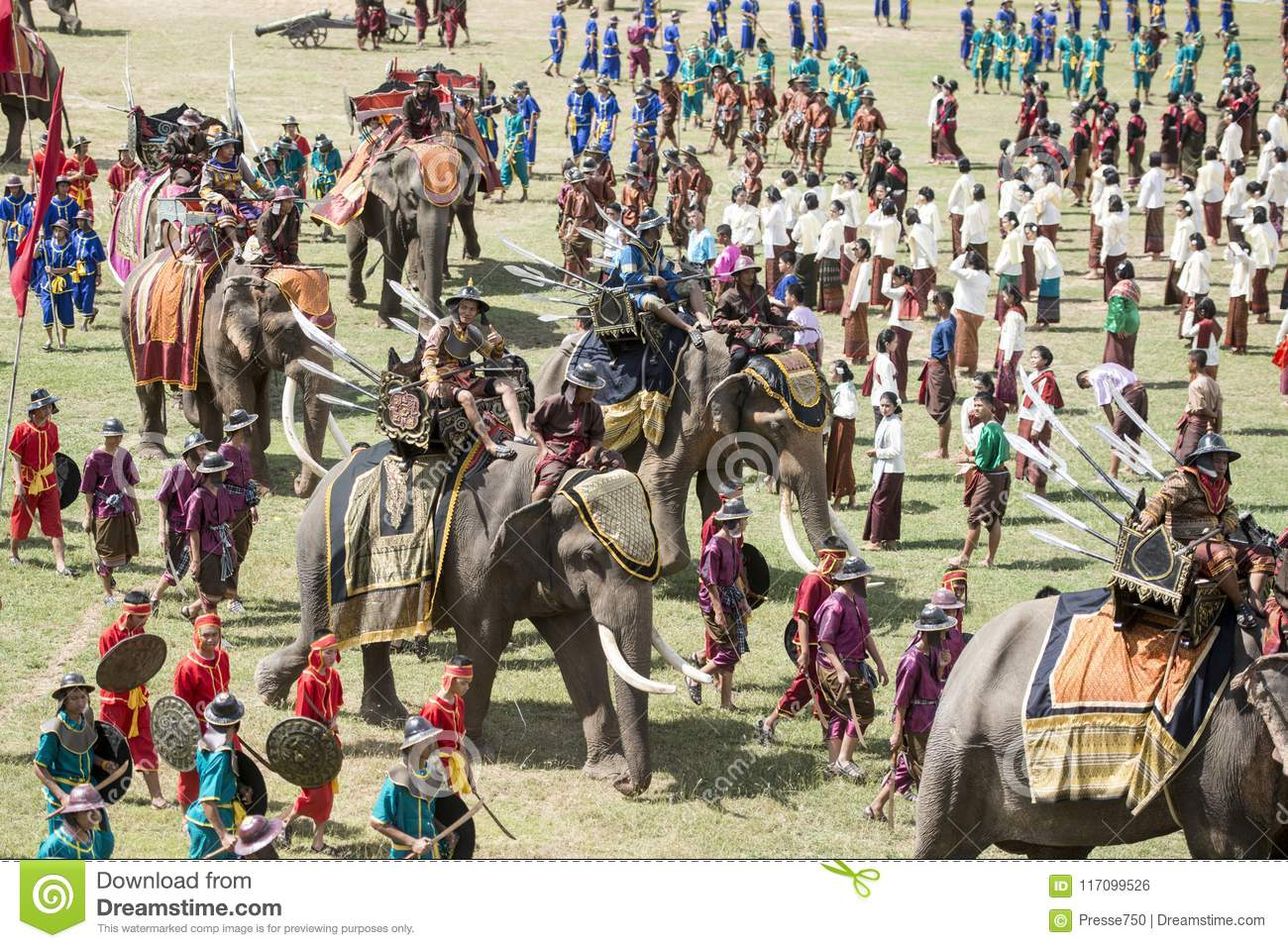Download THAILAND ISAN SURIN ELEPHANT FESTIVAL ROUND UP Editorial Photo - Image of festival, surin: 117099526